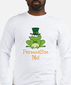 Leprechaun Frog Long Sleeve T-Shirt