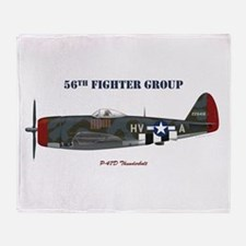 56th Fighter Group Throw Blanket