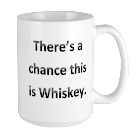 Theres a chance this is whiskey Large Mug