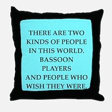bassoon Throw Pillow