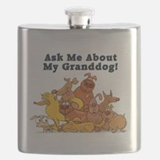 Ask Me About My Granddog Flask