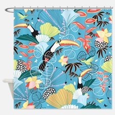 Tropical Toucans Shower Curtain