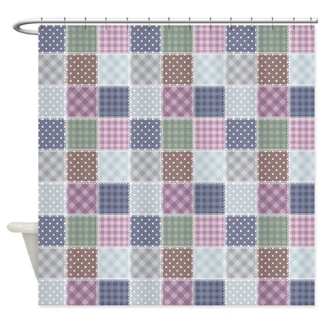 Country Quilt Shower Curtain