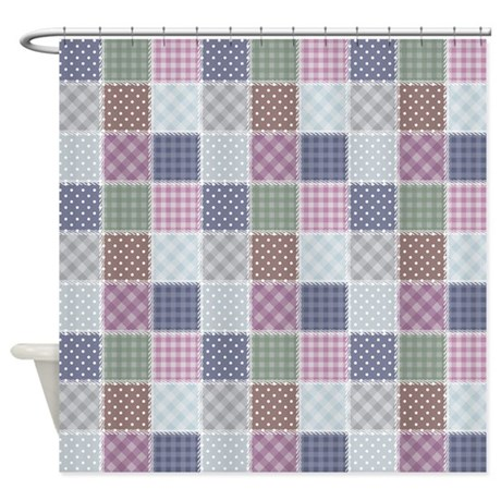 Marvelous Country Quilt Shower Curtain