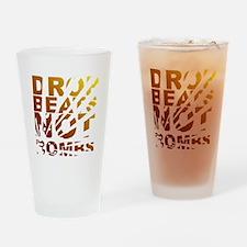 Drop Beats Not Bombs Expolsions Drinking Glass