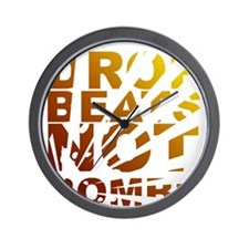 Drop Beats Not Bombs Expolsions Wall Clock