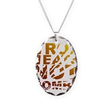 Drop Beats Not Bombs Expolsions Necklace Oval Char