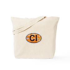 Captiva Island - Oval Design. Tote Bag