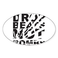 Drop Beats Not Bombs Decal