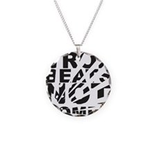 Drop Beats Not Bombs Necklace Circle Charm