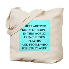 french ,horn Tote Bag