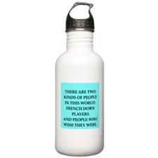 french ,horn Water Bottle