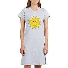 Yellow Happy Sunshine. Women's Nightshirt
