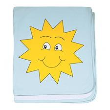 Yellow Happy Sunshine. baby blanket