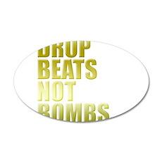 Drop Beats Not Bombs Gold Wall Decal