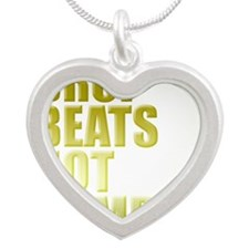 Drop Beats Not Bombs Gold Silver Heart Necklace
