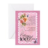100 year card Greeting Cards