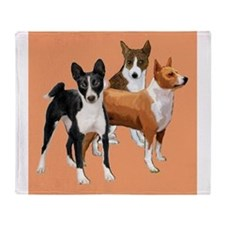 three basenjis Throw Blanket