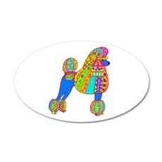Pretty Poodle Design Wall Decal