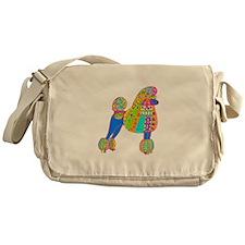 Pretty Poodle Design Messenger Bag