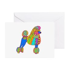 Pretty Poodle Design Greeting Cards (Pk of 10)