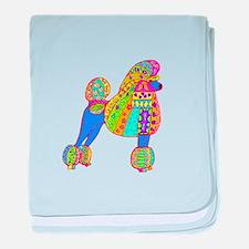 Pretty Poodle Design baby blanket