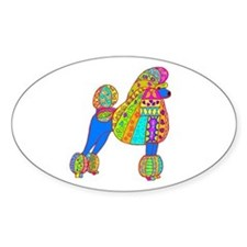 Pretty Poodle Design Decal