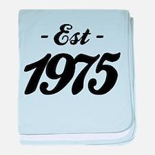 Established 1975 - Birthday baby blanket