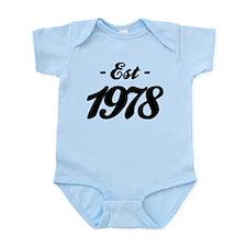Established 1978 - Birthday Infant Bodysuit