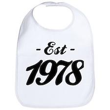 Established 1978 - Birthday Bib