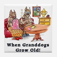 When Granddogs Grow Old Tile Coaster