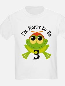 3rd Birthday Frog Turning 3 T-Shirt