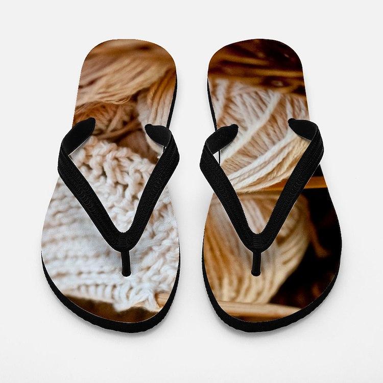 Organic Yarn Flip Flops