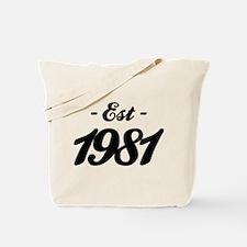 Established 1981 - Birthday Tote Bag