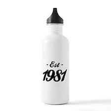 Established 1981 - Birthday Water Bottle