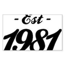 Established 1981 - Birthday Decal