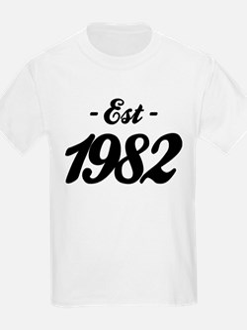 Established 1982 - Birthday T-Shirt
