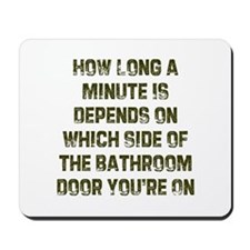 How Long a Minute Is Depends  Mousepad