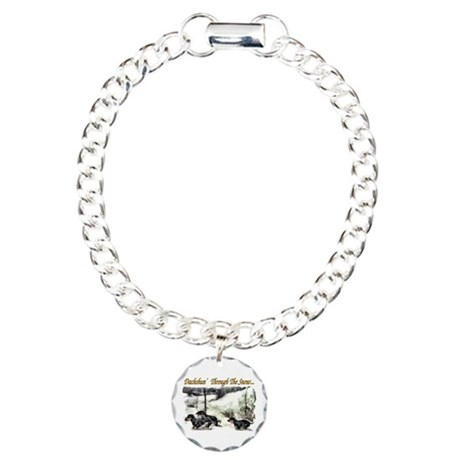 Dachshund Christmas Charm Bracelet, One Charm