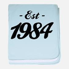 Established 1984 - Birthday baby blanket