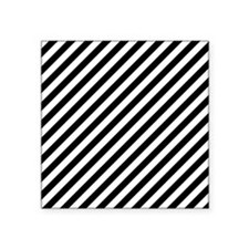 "Black Stripes. Square Sticker 3"" x 3"""