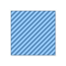 "Blue Stripes. Square Sticker 3"" x 3"""
