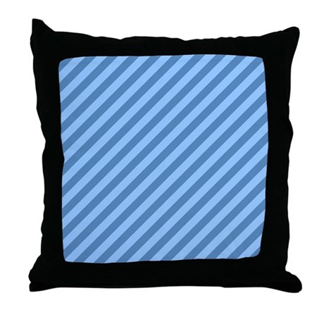 Blue Stripes. Throw Pillow by Metarla2
