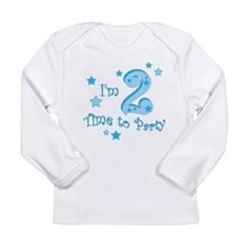 im_two_time_to_party_blue Long Sleeve T-Shirt