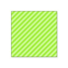 "Green Stripes. Square Sticker 3"" x 3"""