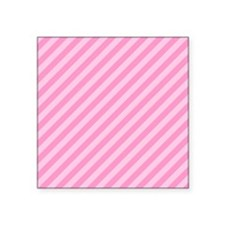 "Pink Stripes. Square Sticker 3"" x 3"""