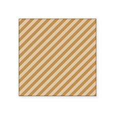 "Brown Stripes. Square Sticker 3"" x 3"""
