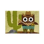 cowboy owl Rectangle Magnet