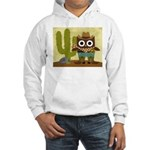cowboy owl Hooded Sweatshirt