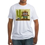 cowboy owl Fitted T-Shirt